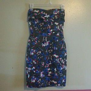 Fun mini strapless dress